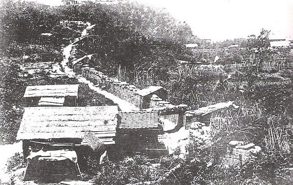 城山を取り囲む帝国陸軍の要塞
