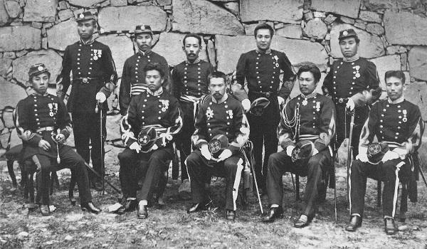 熊本鎮台の指揮官および幕僚。