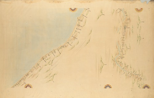 『大日本沿海輿地全図』第76図 越後